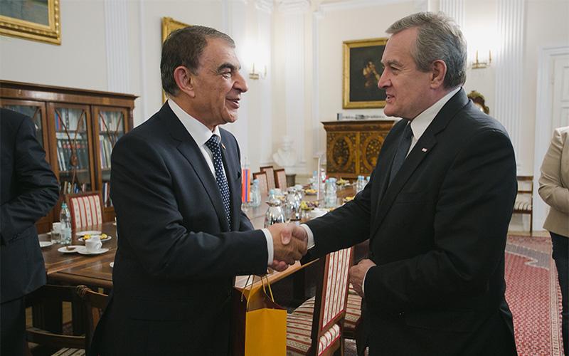 Przewodniczący Zgromadzenia Narodowego Armenii Ara Babloyan oraz Minister Piotr Gliński. autor zdjęcia: Danuta Matloch