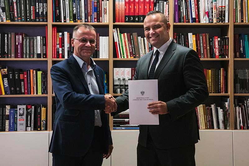 Powołanie dr Karola Nawrockiego na stanowisko dyrektora Muzeum II Wojny Światowej. autor zdjęcia Mikołaj Bujak