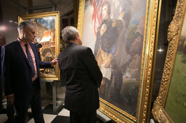 Wernisaż wystawy przedstawiającej malarstwo z Fundacji Kościuszkowskiej w Nowym Jorku z udziałem ministra Piotra Glińskiego.  autor zdjęcia Danuta Matloch