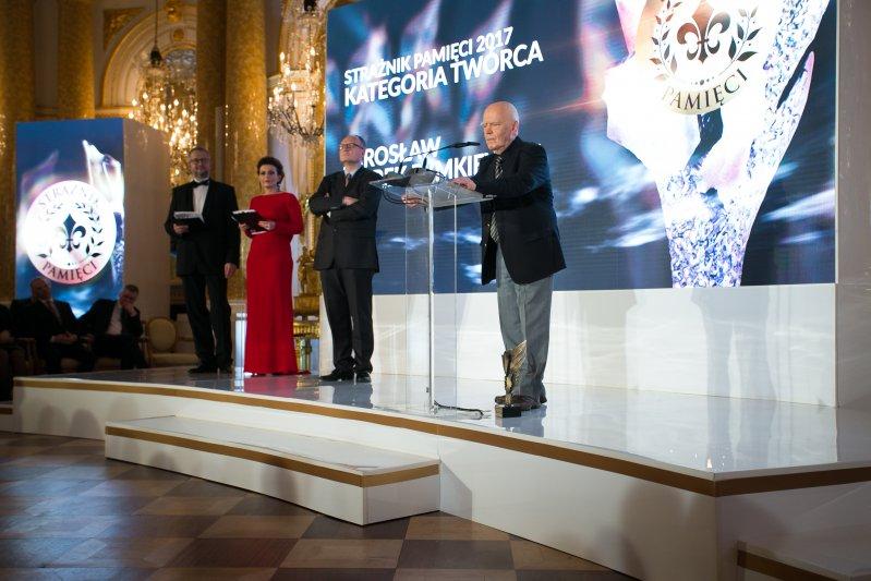 Gala wręczenia nagród Strażnik Pamięci 2017. autor zdjęcia: Danuta Matloc