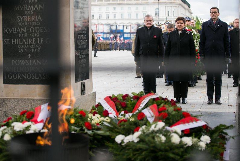 Uroczystości przed Grobem Nieznanego Żołnierza,  autor zdjęcia: Danuta Matloch