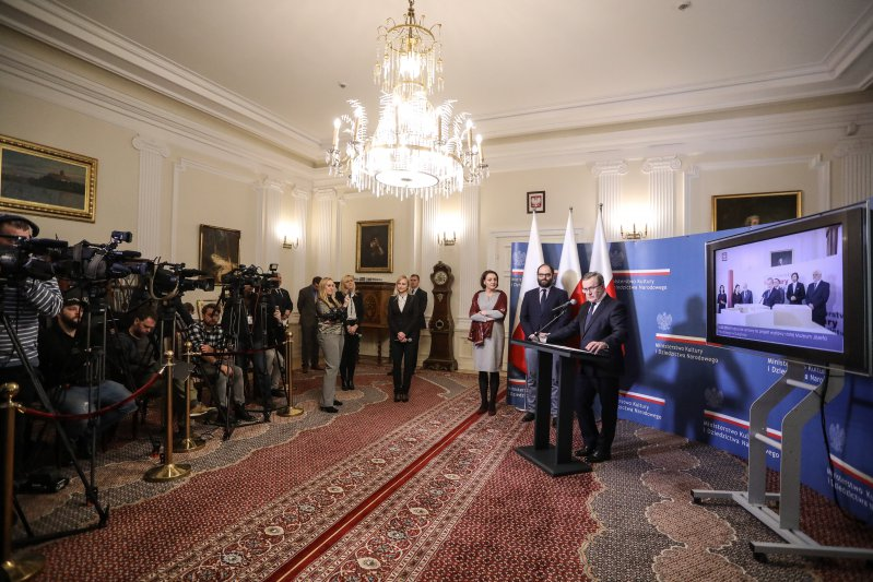 Na zdjęciu: Konferencja z okazji dwulecia rządu