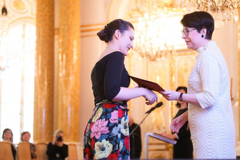 Na zdjęciu: Uroczystośc wręczenia stypendów Ministra Kultury i Dziedzictwa Narodowego