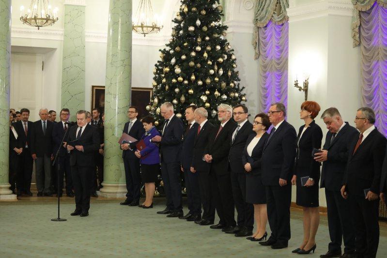 na zdjęciu: Uroczyste powołanie rządu Mateusza Morawieckiego. autor zdjęcia: Danuta Matloch