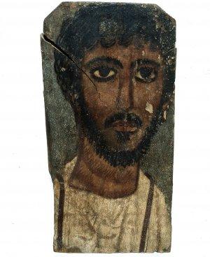 Na zdjęciu:Portret fajumski mężczyzny