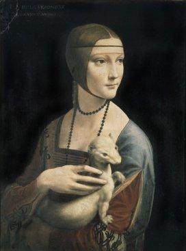 Na zdjęciu: Leonardo da Vinci -Dama z gronostajem