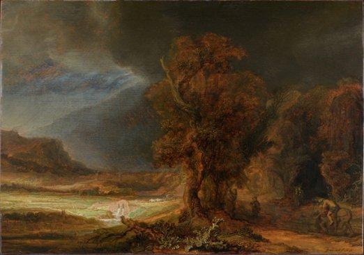 Na zdjęciu: Rembrandt Harmensz van Rijn - Krajobraz z Miłosiernym Samarytaninem