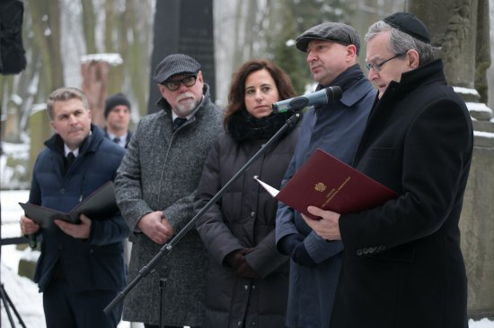 Na zdjęciu: Wicepremier prof. Piotr Gliński przemawia podczas otwarcia szlaku edukacyjnego