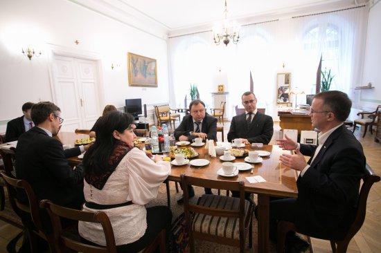 Wiceminister kultury i dziedzictwa narodowego Jarosława Sellina z delegacją grupy parlamentarnej w Radzie Najwyższej Ukrainy