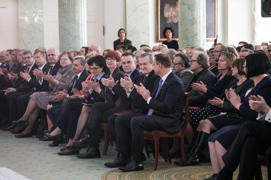 Na zdjęciu: Wicepremier Piotr Glinski podczas uroczystości wpisania nowych obiektów zabytkowych na liste Pomników Historii