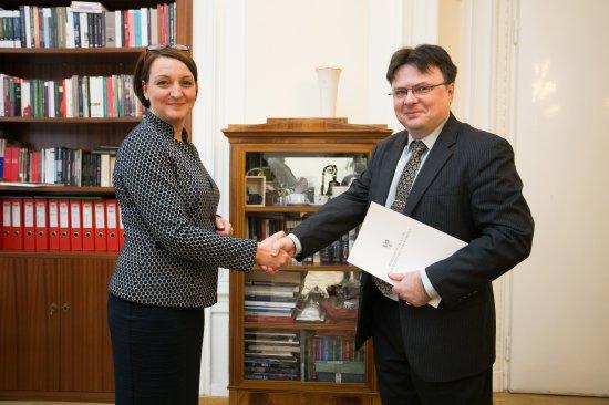 Na zdjęciu: Uroczystość powołania na stanowisko dyrektora Państwowego Instytutu Wydawniczego