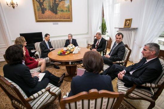 Na zdjęciu: prof. Piotr Gliński oraz para książęca Liechtensteinu, książę Alojzy i księżna Zofia, oraz zaproszeni goście