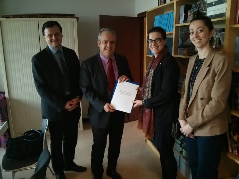 Na zdjęciu: delegacja z MKiDN w Paryżu
