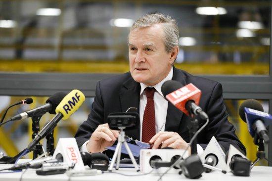 Na zdjęciu: wicepremier Piotr Gliński podczas konferencji w EC1 w Łodzi