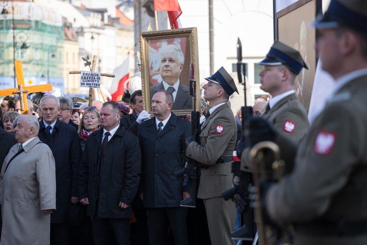 Na zdjęciu: Państwowe uroczystości 10 kwietnia