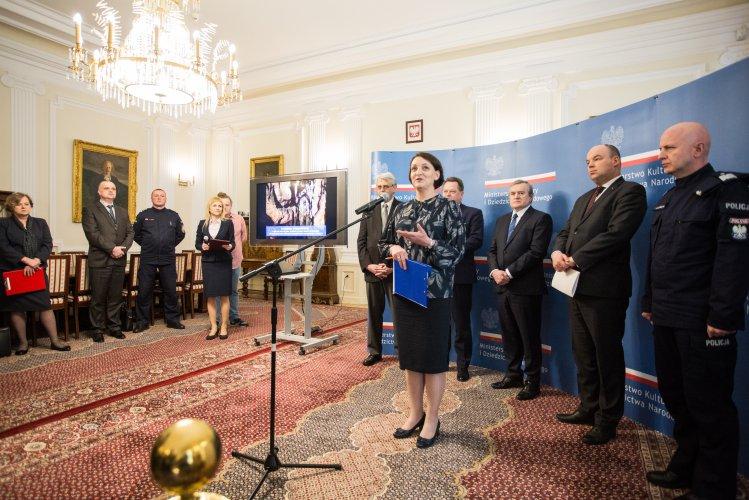 Na zdjęciu: Konferencja prasowa dotycząca 41. sesji Komitetu Światowego Dziedzictwa UNESCO