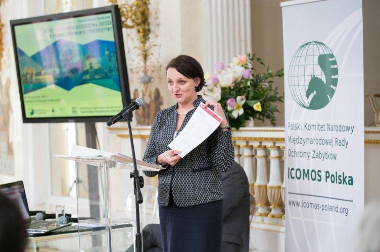 W konferencji PKN ICOMOS wzięła udział wiceminister Magdalena Gawin