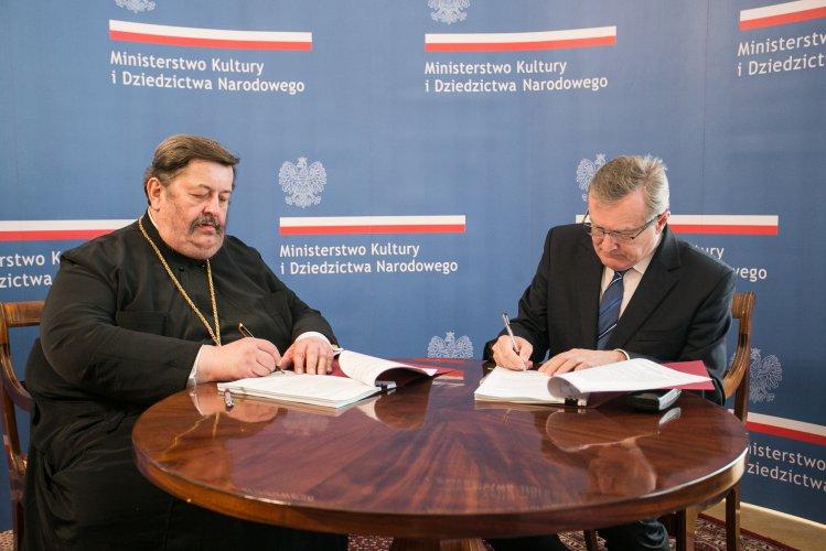 Na zdjęciu: minister Piotr Gliński i arcybiskup Diecezji Lubelsko-Chełmskiej Abel