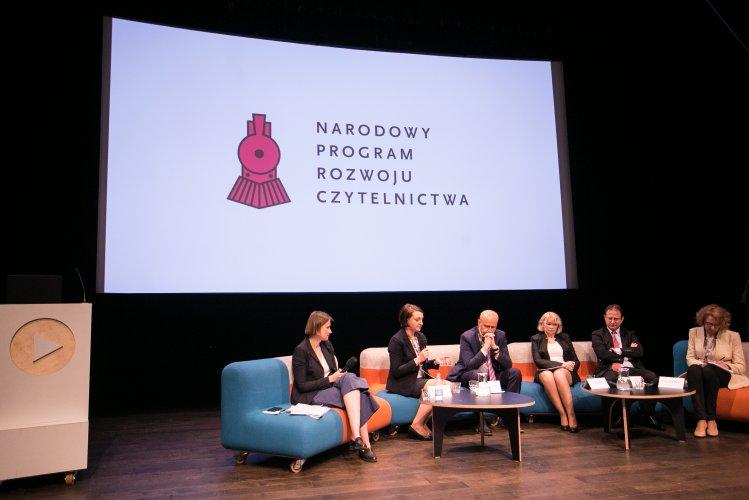 Na zdjęciu: paneliście konferencji Nowe Przestrzenie Czytania