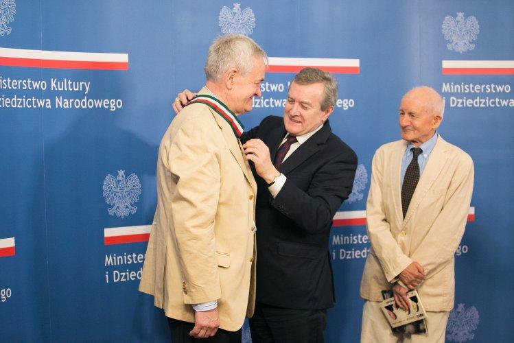 Na zdjęciu: Wicepremier Piotr Gliński,  Andzrzej Krauze,  Andrzej Dobosz