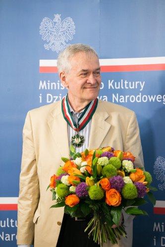 Na zdjęciu: Wicepremier Piotr Gliński,  Andzrzej Krauze