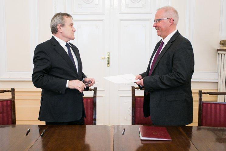 Na zdjęciu: Uroczystość powołania Marka Mikosa na nowego dyrektora Narodowego Starego Teatru w Krakowie