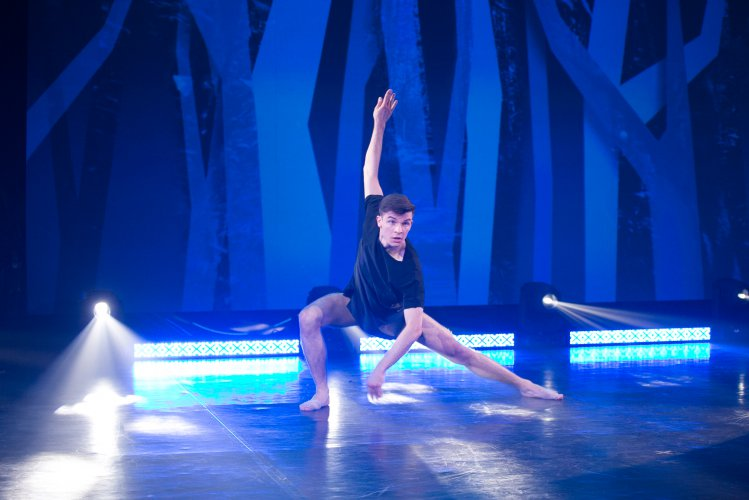 Na zdjęciu: Uczestnik konkursu Młody Tancerz