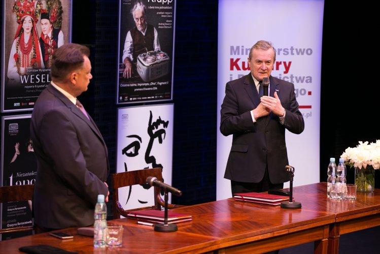 Na zdjęciu: wicepremier prof. Piotr Gliński i marszałek Adam Struzik