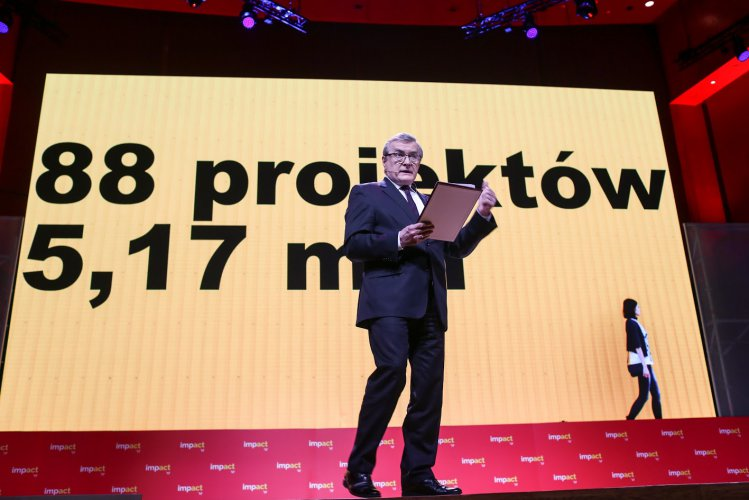 Na zdjęciu: Wicepremier prof. Piotr Gliński na konferencji Impact