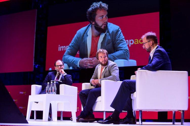 Na zdjęciu: Wiceminiser Paweł Lewandowski na konferencji Impact