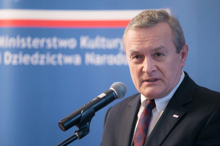 Na zdjęciu: Konferencja dotycząca nowego portalu internetowego - polonika.gov.pl
