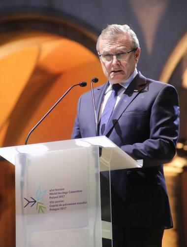 Na zdjęciu: ceremonia otwarcia 41. sesji Komitetu Światowego Dziedzictwa UNESCO