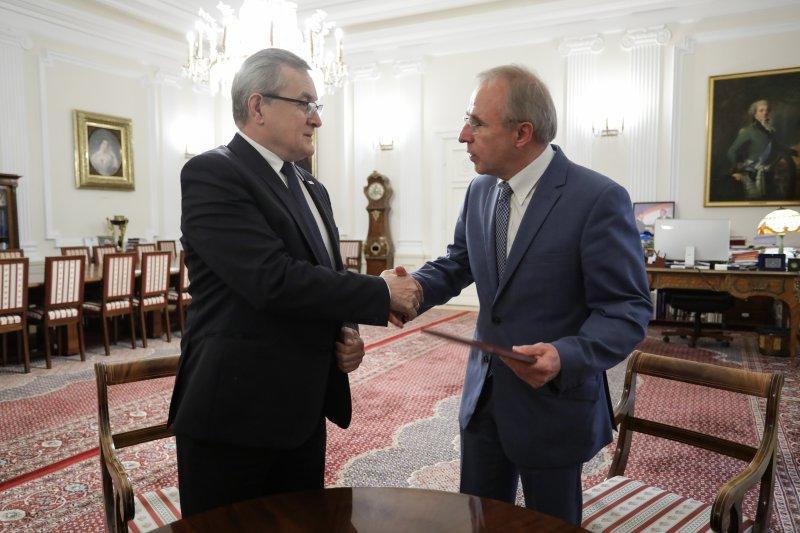 Na zdjęciu: Wicepremier Piotr Gliński i Wojciech Nowak