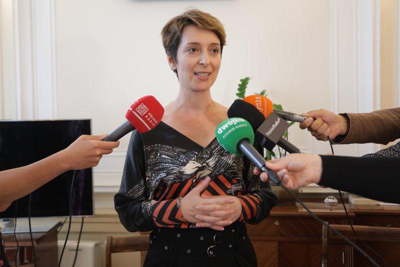 Na zdjęciu: Wicepremier Piotr Gliński i Ewa Bogusz-Moore dyrektor NOSPR