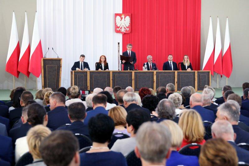 Na zdjęciu: Obchody 550-lecia polskiego parlamentaryzmu