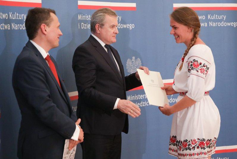 """Na zdjęciu: Uroczystość wręczenia stypendiów """"Gaude Polonia"""""""