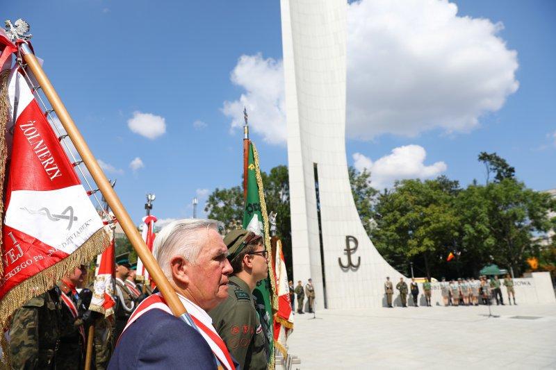 Na zdjęciu: Uroczystośći 74 rocznicy Powstania Warszawskiego