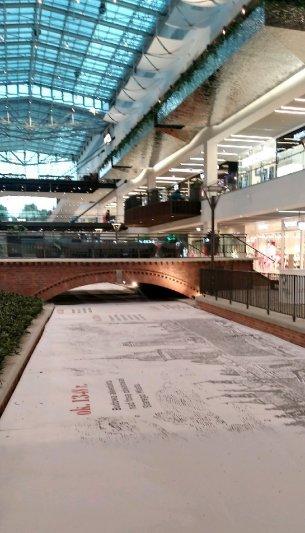 zabudowany kanał Raduni w ukończonym Forum Gdańsk