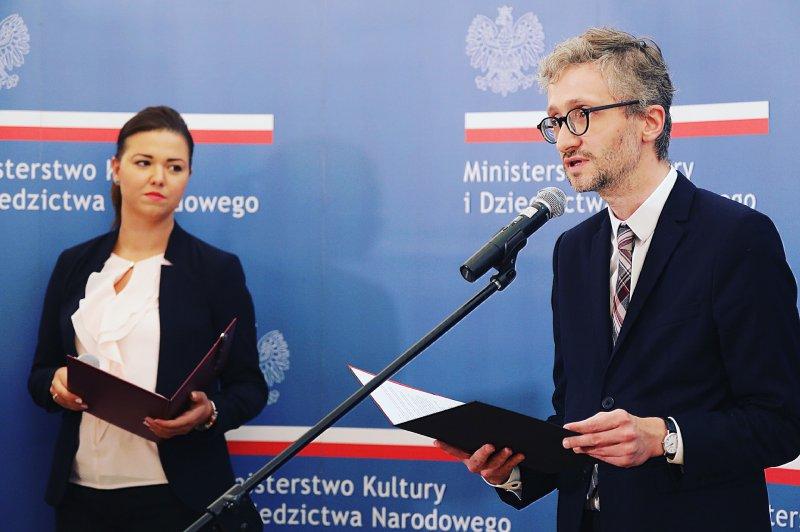 Na zdjęciu przemawia zastępca dyrektora NIFC Maciej Janicki.