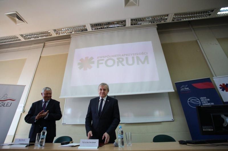 Na zdjęciu wicepremier Piotr Gliński podczas forum w Łodzi Młodzi dla Przyszłości