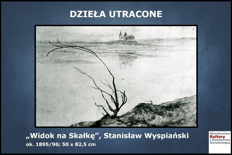 Na zdjęciu obraz Stanisława Wyspiańskiego - Widok na Skałkę
