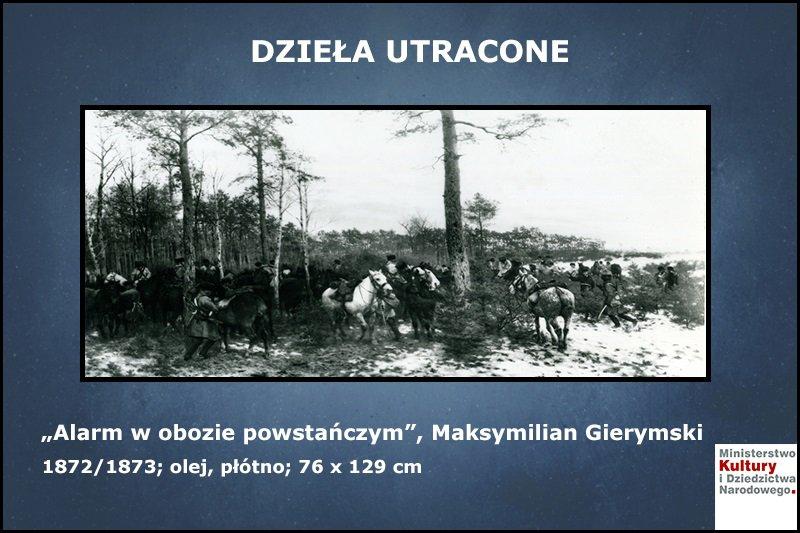Alarm w obozie powstańczym, Maksymilian Gierymski, 1872/1873; olej, płótno; 76 x 129 cm