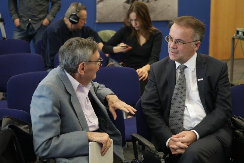 na zdjęciu wiceminister Sellin i redaktor Turski