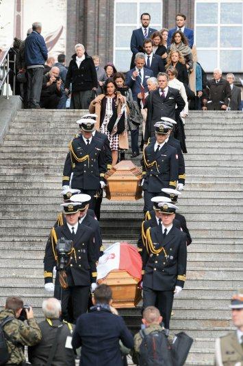 Na zdjęciu: Uroczystości pogrzebowe Dowódcy Obrony Wybrzeża 1939 r. śp. admirała floty Józefa Unruga i Jego Małżonki śp. Zofii Unrug