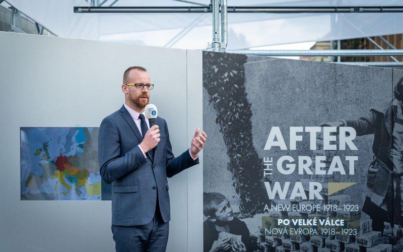 Na zdjęciu: otwarcie w Pradze wystawy poświęconej odradzaniu się Europy po I wojnie światowej