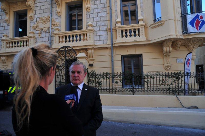 Na zdjęciu: Wicepremier Piotr Gliński podczas wizyty we Francji