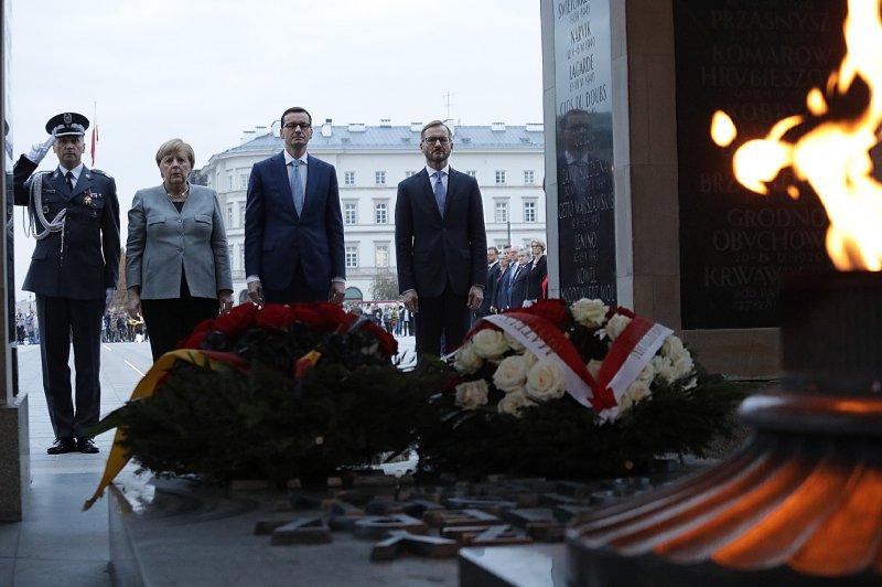 na zdjęciu kanclerz Niemiec Angela Merkel i premier RP Mateusz Morawiecki
