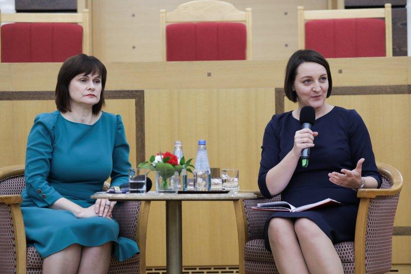 Na zdjęciu: konferencja dotycząca 100 lecia nadania praw wyborczych kobietom