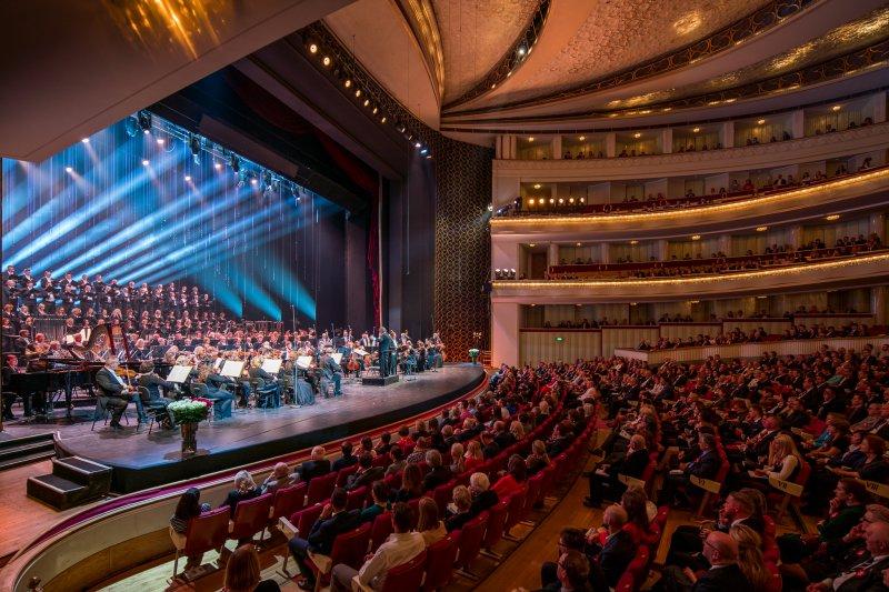 na zdjęciu koncert w Teatrze Wielkim w Warszawie
