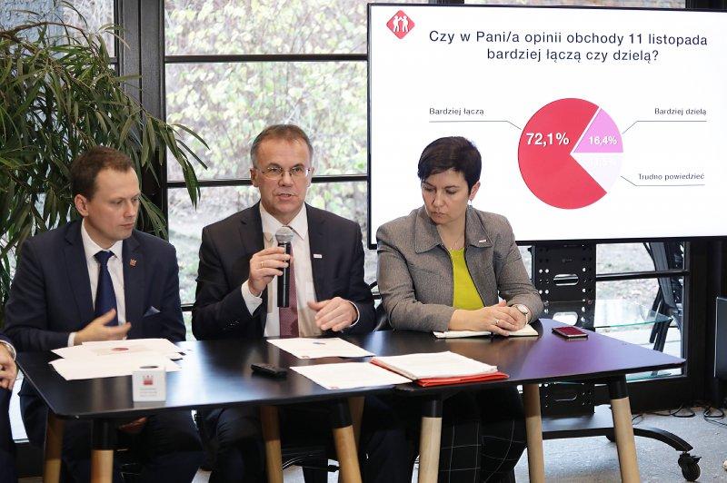 na zdjęciu wiceminister Sellin,  dyrektor Florjanowicz,  dyrektor Wiśniewski